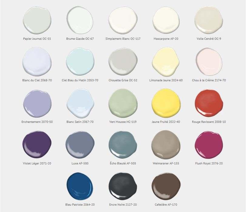 les tendances couleur 2016 selon benjamin moore colobar. Black Bedroom Furniture Sets. Home Design Ideas