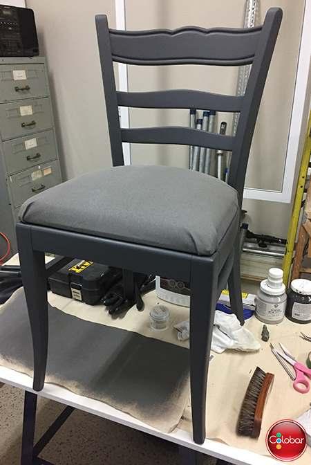 Le résultat final : meuble complètement peinturé avec la peinture Fusion