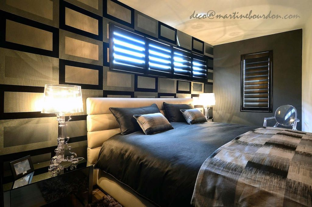 une chambre coucher de style au centre ville colobar. Black Bedroom Furniture Sets. Home Design Ideas