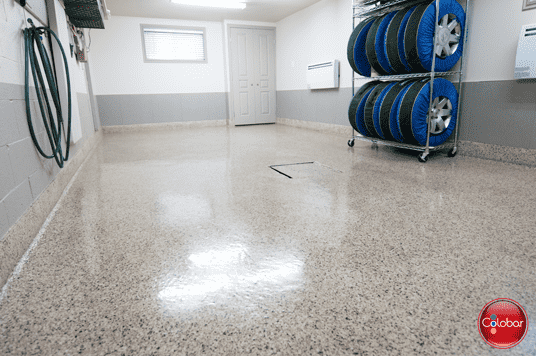 Plancher époxy cuvele (garage epoxy)