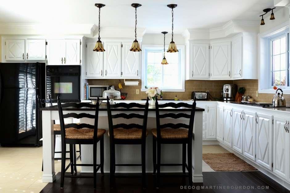 peinturer des armoires pour transformer une cuisine colobar. Black Bedroom Furniture Sets. Home Design Ideas