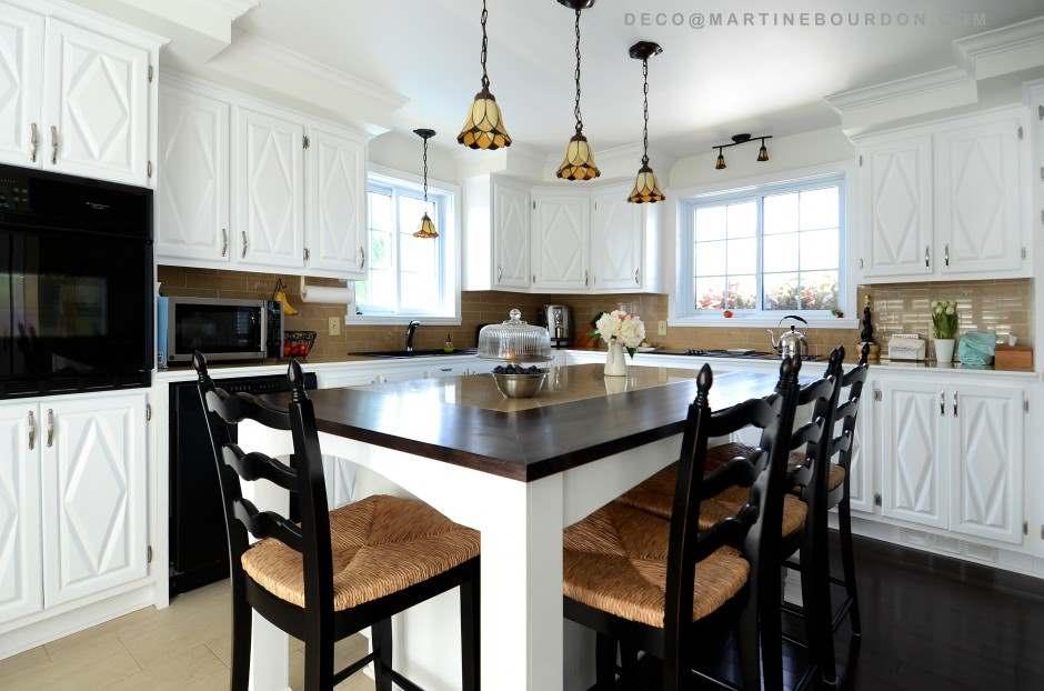Peinturer des armoires pour transformer une cuisine colobar - Peinture d armoire de cuisine ...