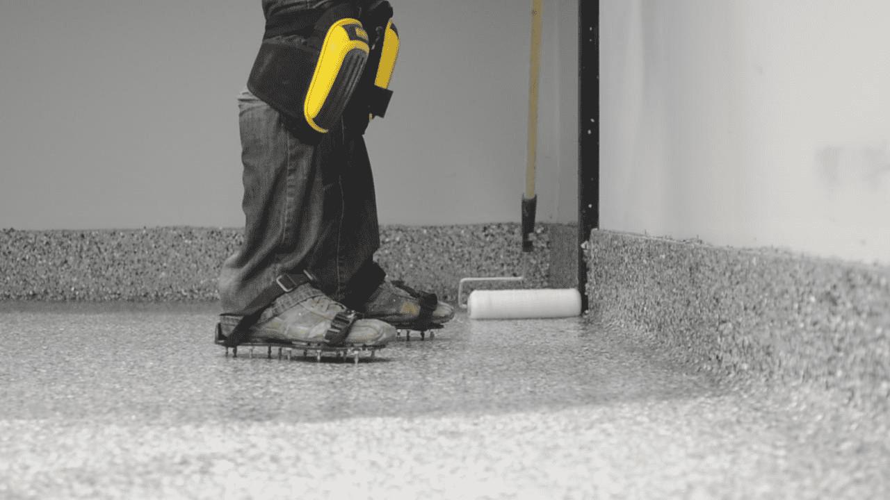 Comment faire un plancher d 39 poxy full flake colobar - Faire un plancher bois dans un garage ...