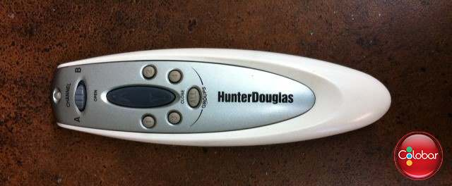 Télécommande pour stores motorisés Hunter Douglas