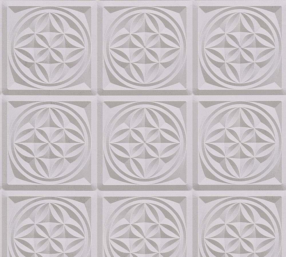 Papier Peint Geometrique 3d Couleur Gris
