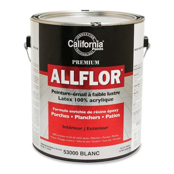 Peinture à plancher acrylique époxy Allflor de California Paints
