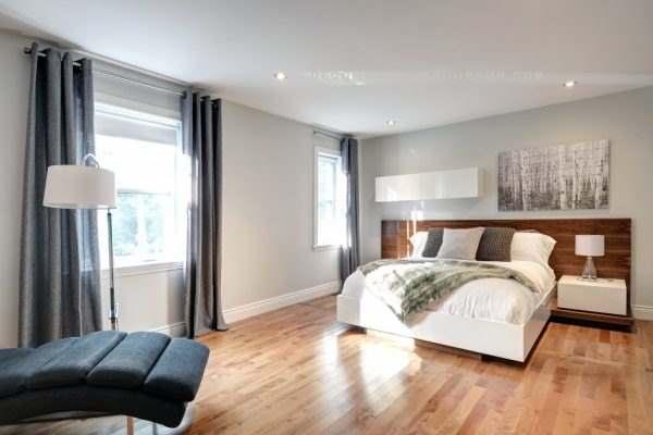 Une chambre, un foyer et un style épuré! - Colobar