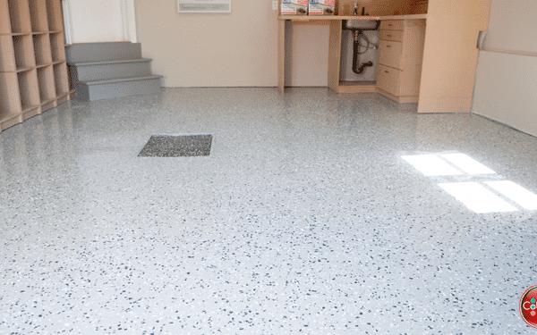 Époxy pour plancher de garage 1 couche + flocons