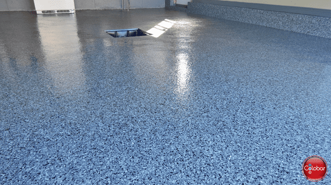 Colobar garage epoxy cove base