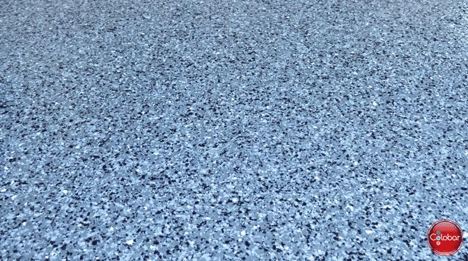 Colobar garage epoxy : couleur de flocons Gris moyen
