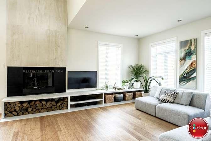 Changement de style pour le manteau de foyer blog de colobar peinture d coration - Decoration foyer salon ...