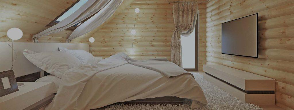 Entretien intérieur d'une maison en bois rond