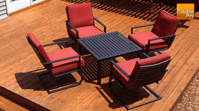 Comment prot ger et entretenir un patio en c dre colobar for Plancher de galerie exterieure