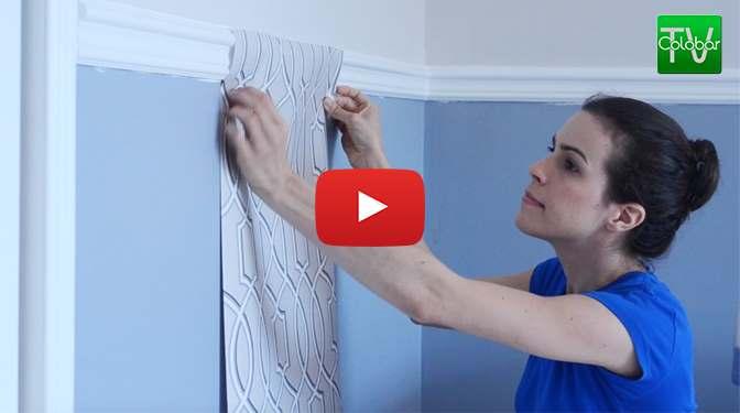 Comment poser du papier peint colobar peinture d coration - Comment poser du papier peint ...