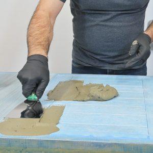 Preparation effet beton