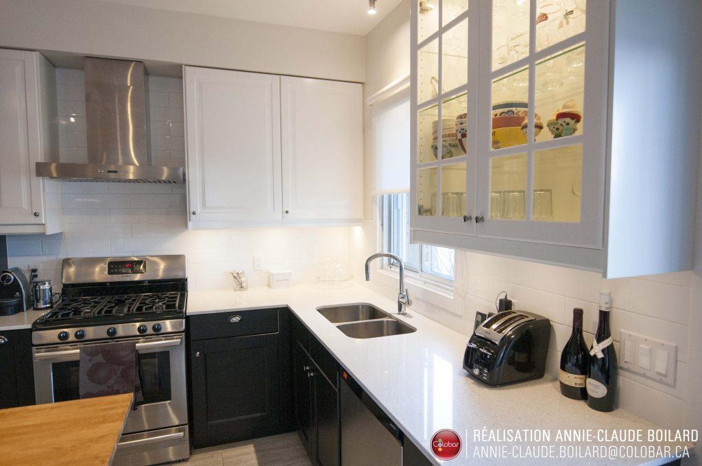 transformation d 39 une cuisine style contemporain colobar. Black Bedroom Furniture Sets. Home Design Ideas