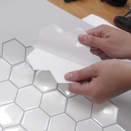 dosseret autocollant hexagone couleur perle colobar boutique en ligne. Black Bedroom Furniture Sets. Home Design Ideas