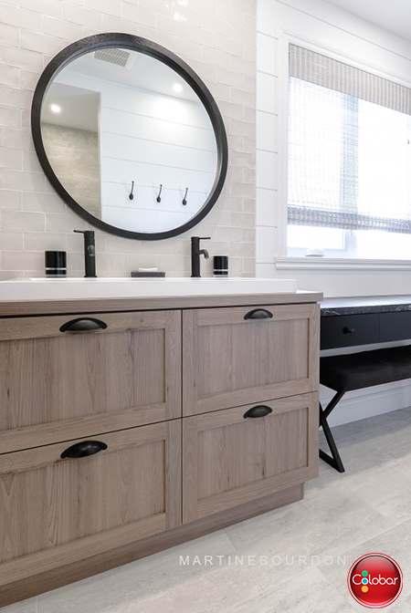 Salle de bain rustique moderne - Blog de Colobar Peinture ...