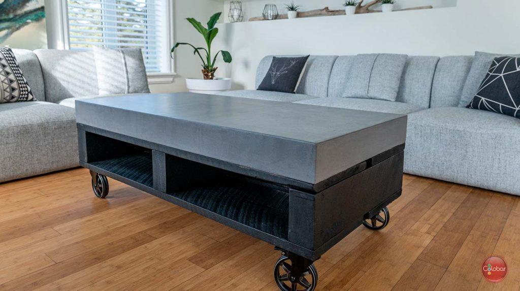 Comment Faire Une Table En Béton Ciré comment faire une table ou un comptoir en béton - blog de
